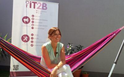Olga Guerra Recursos Humanos, se ha sentado en la hamaca con IT2B