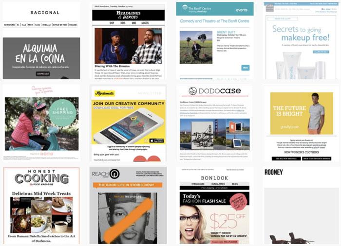 Ejemplos plantillas de newsletter