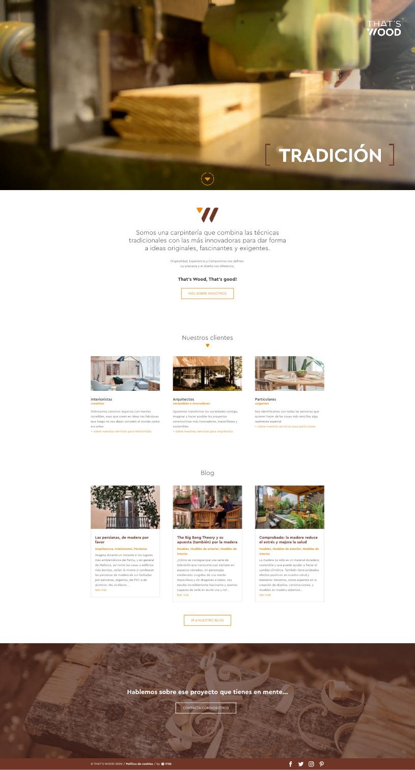 Web That's Wood - Diseño y programación web